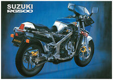 SUZUKI Poster RG500 Gamma 1985 1986 1987 Suitable to Frame