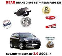 FOR SUBARU TRIBECA 3.0 B9 2005 > NEW REAR BRAKE DISCS SET+ BRAKE PADS KIT