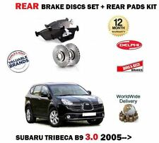 FOR SUBARU TRIBECA 3.0 B9 2005--> NEW REAR BRAKE DISCS SET+ BRAKE PADS KIT