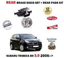 FOR SUBARU TRIBECA 3.0 B9 2005--> NEW REAR BRAKE DISCS SET+ BRAKE PADS KIT
