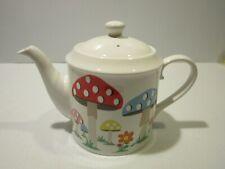 Cath Kidston Tea Pot, Multicolor Mushroom and Flower Figurals