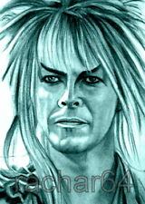 1/1 print ACEO sketch card THE LABYRINTH David Bowie JARETH