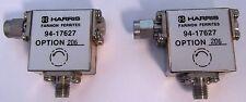 Lot of 2 Harris Farinon Ferrites 94-14627 RF Isolator Freq 1.7-2.0 GHz Opt. 206