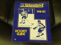 1981 1982 MICHIGAN CCHA COLLEGE HOCKEY MEDIA GUIDE EX-MINT
