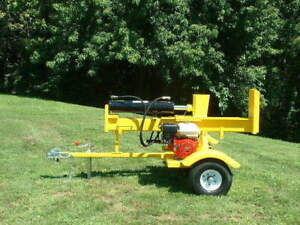 PowerTek 30-Ton Honda 8hp GX240 Tilt Gas Wood Log Splitter USA Made Tail lights