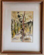 Perches de houblon, Kent. Aquarelle de mise en vente artiste Guy Lindsay Roddon 1953