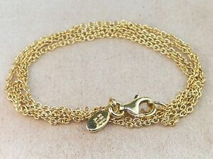 """PANDORA 14k Yellow Gold .585 ALE Classic Anchor Chain Necklace-19.5"""""""