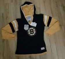 Boston Bruins NWT Women's Old Time Hockey Hooded Sweatshirt/ Jersey size-XL