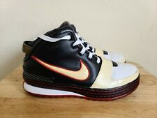 Nike Lebron 6 VI Bred Black/Red Sneakers 346526-101 Men's Size 10