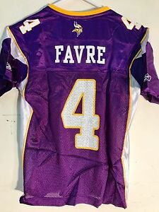Reebok Women's NFL Jersey MINNESOTA Vikings Brett  Favre Purple sz S