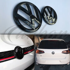 VW Golf MK7 2013-2017 Gloss Nero Anteriore e posteriore badge emblemi GTI/GOLF R/GT-TDI