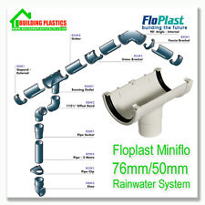 Mini Small Guttering and Fitting White for shed,porches,conservatories etc