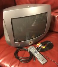13� Philips 13Pt30L121 Crt Tv Clock, Light, Retro Gaming + Remote!Tested (#188)