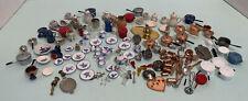 Large Lot of Vintage Dishes Tea Sets Pots & Pans Etc Dollhouse Miniature 1:12