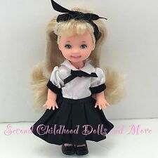EVENING RECITAL KELLY Barbie Sister Blonde Doll Formal Dress Clothes Socks Shoes