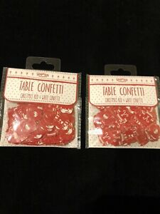 2 PACKS OF GINGER RAY CHRISTMAS TABLE CONFETTI - NEW & SEALED