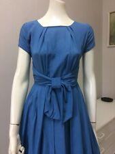 Original Vintage 50s Dress ,Full Skirt Dress, Bow Detail ,Pinup Rockabilly Retro