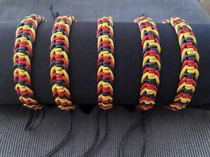 Aboriginal Flag Colours Koori Pride Adjustable Bracelet ABORIGINAL PRIDE 🖤💛❤️