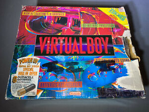Nintendo Virtual Boy Game Console Complete Mint Open Box