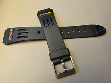 New Timex Stealth Indiglo Black Sport 17mm SHORT, Regular to LONG Watch Band