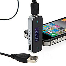 Wireless 3.5mm Car LCD Display FM Transmitter Cable For iPhone 5S 6 Affordable