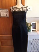 Stunning Ladies BNWT Next Black Strapless Boned Xmas Party Dress 14 RRP £49.99