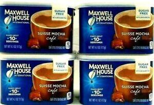 Maxwell House International Sugar Free Suisse Mocha Cafe 4.1 oz ( Pack of 4 )