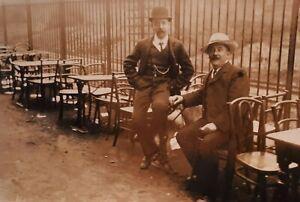 c1907 B/W Photograph. London Willesden Hippodrome Stage Manager & Elephant Man