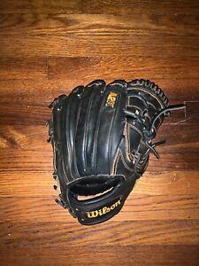 Wilson A2K 12 Inch B2 Baseball Glove Black Orange 2-Piece Web