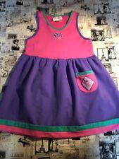 Vtg Gymboree 1994 dress jumper XXL 6 7 EUC Tea Party purple pink quality cotton