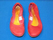 7 Merrell Red Leather Ladies Womens Ballet Flats Shoes Port Performance Footwear