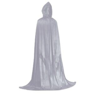 Halloween Velvet Cloak Hood Capes Long Fancy Dress Witch Costumes Cosplay Funny