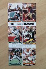 NFL Pro Set cards uncut 1991 'No.3 The Receivers Collection'