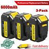 3X For DeWalt 20V DCB206-2 DCB204-2 20-Volt Max XR 6.0AH DCB205 Lithium Battery