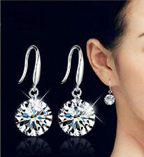 Rhinestone CZ drop earhook Earrings Bridal Bride / Bridesmaid wedding 1 pair