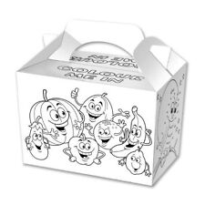 Children Kid Color Birthday Wedding Party Meal Lunch Food Gift Loot Bag Box NEW