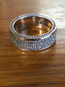 David Yurman Streamline 3 row diamond ring  Size 9.75