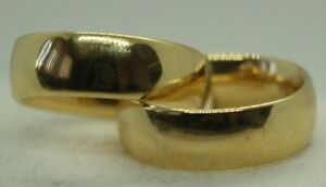 100% Genuine 9k Solid Yellow Gold Flat Hollow Fat Hoop Earrings. Italy