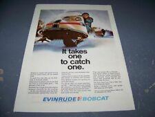"1970 EVINRUDE SNOWMOBILE ""BOBCAT""..1-PAGE ORIGINAL SALES AD.. (224W)"