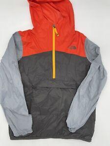 The North Face Boys XL (18/20) orange grey windbreaker turns into fanny pack