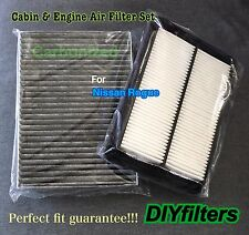 Combo set For Nissan Rogue Carbonized Cabin&Engine Air Filter US Seller