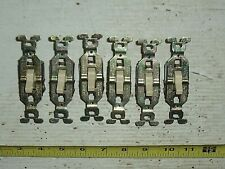 Lot of 6 Old Vintage NOS GE General Electric Ivory Light Switches 10A-125V