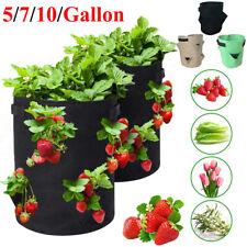 7 10 Gallon Planting Grow Bag Potato Strawberry Vegetable Planter Bag Pot Garden