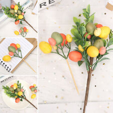 Home Decor Egg Tree Branches Easter Decoration Hanging Ornaments Easter Egg