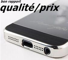 étui Steve Jobs logo apple  aspect alu noir-argenté iphone 5 5G 5S
