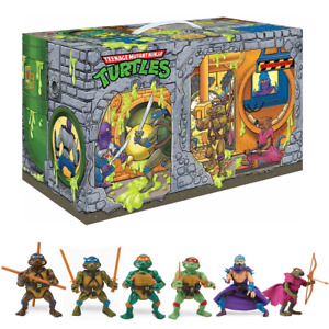 TMNT Ninja Turtles Sewer Lair Playset PREVIEWS EXLUSIVE 6 Figures PREORDER JUNE