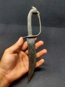 Vintage Aluminium Horse Carved Handle Iron Knife Knives Kattar Hunting Dagger