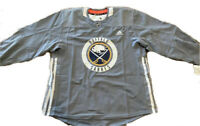 NWT Adidas NHL Buffalo Sabres Mens Authentic Pro Practice Jersey Size 56 Grey