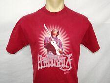 Vtg 2000 Zion Rootswear Jimi Hendrix burgundy red rock band t-shirt Medium