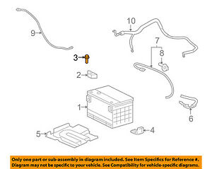 GM OEM Battery-Hold Down Bracket Clamp Tie Bolt 11509853